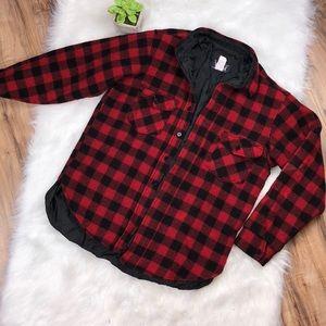 Woolrich sz L vintage buffalo plaid quilted coat